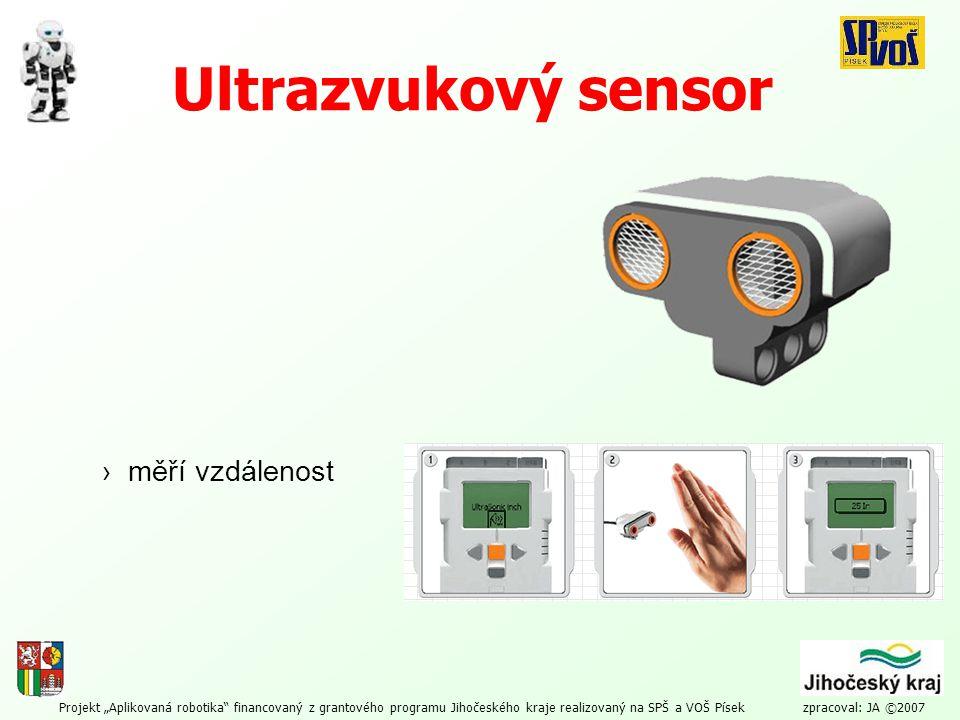Ultrazvukový sensor › měří vzdálenost