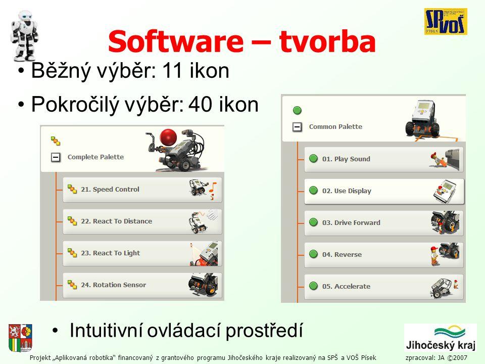 Software – tvorba Běžný výběr: 11 ikon Pokročilý výběr: 40 ikon