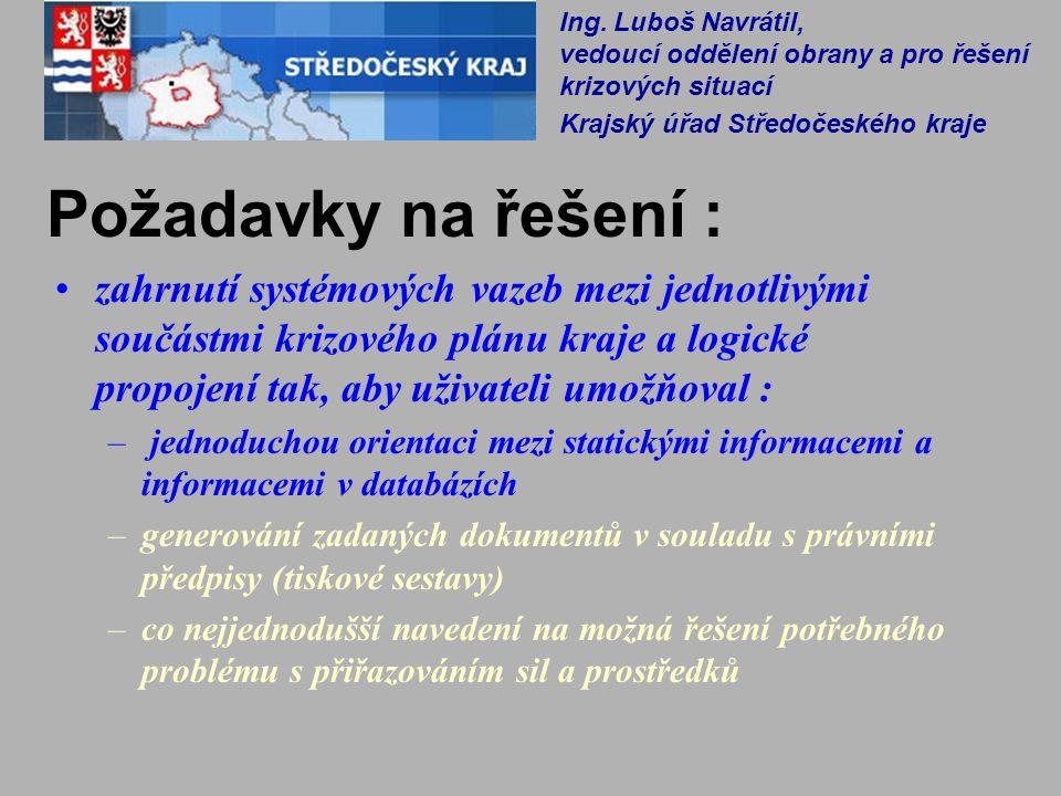 Ing. Luboš Navrátil, vedoucí oddělení obrany a pro řešení krizových situací