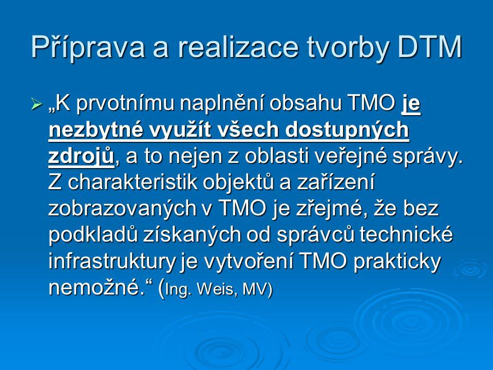 Příprava a realizace tvorby DTM