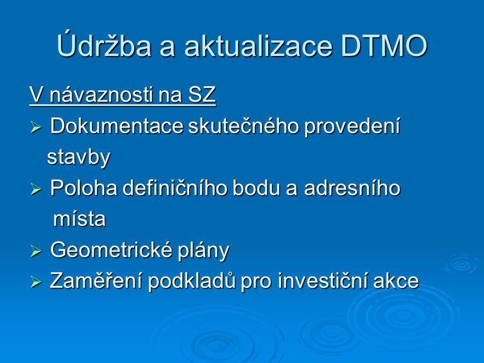 Údržba a aktualizace DTMO