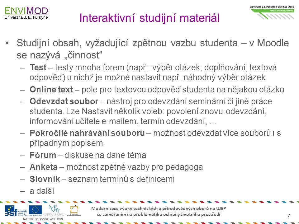 Interaktivní studijní materiál
