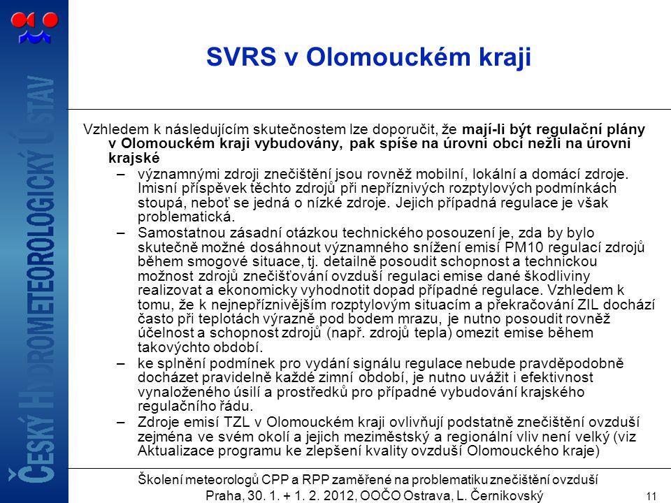 SVRS v Olomouckém kraji