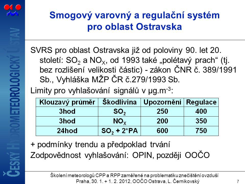Smogový varovný a regulační systém pro oblast Ostravska