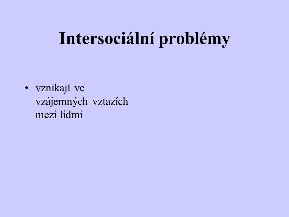 Intersociální problémy