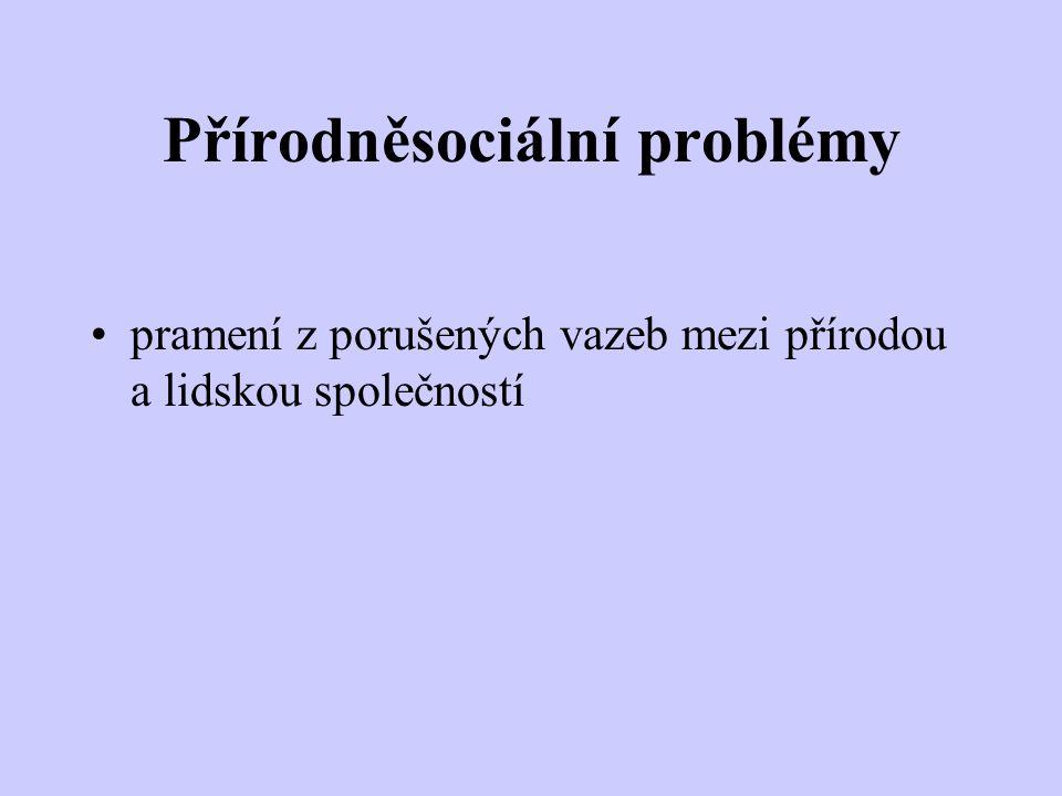 Přírodněsociální problémy