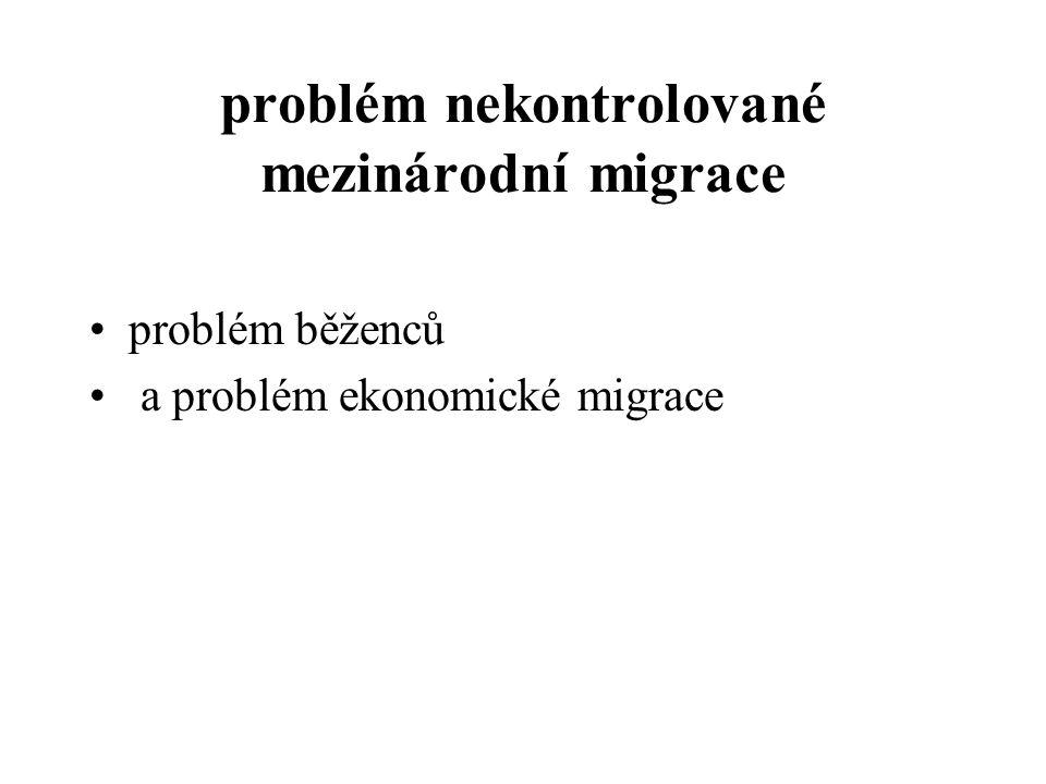 problém nekontrolované mezinárodní migrace