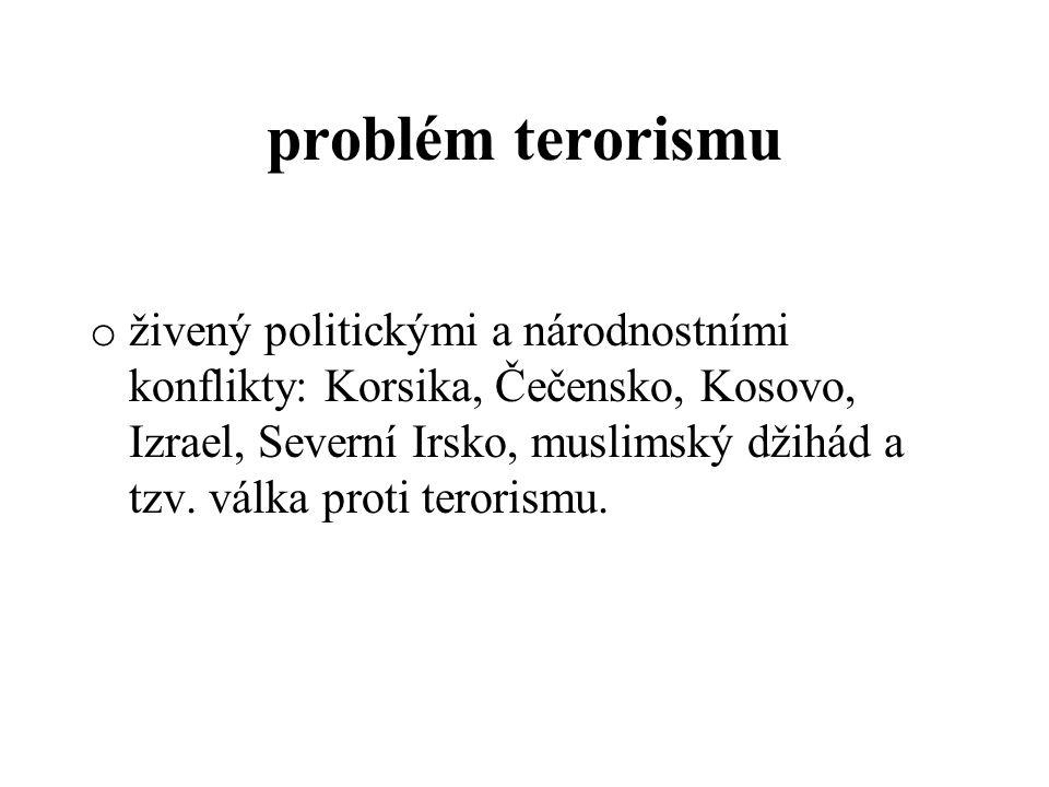 problém terorismu