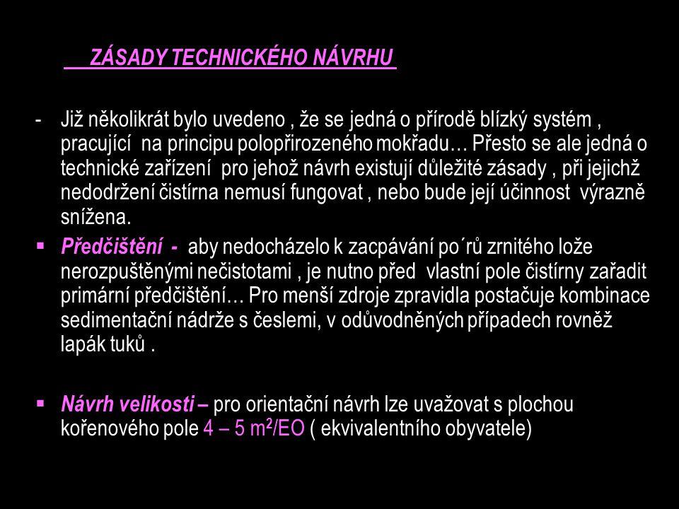 ZÁSADY TECHNICKÉHO NÁVRHU