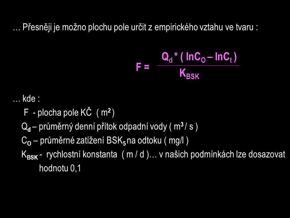 Qd * ( lnCO – lnCt ) KBSK F =