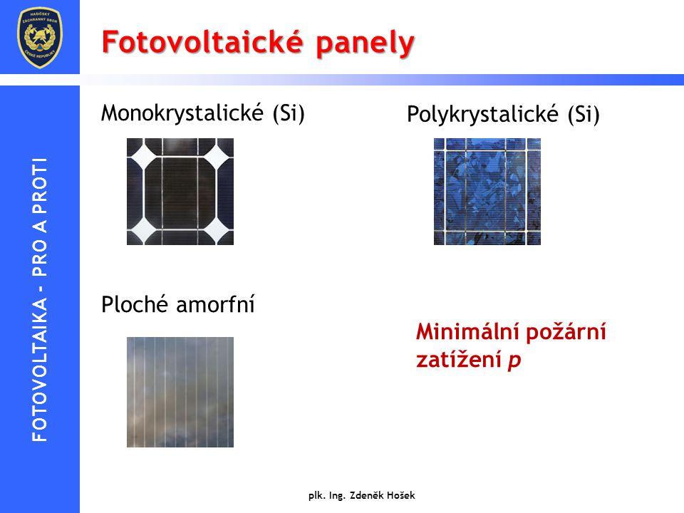 FOTOVOLTAIKA - PRO A PROTI