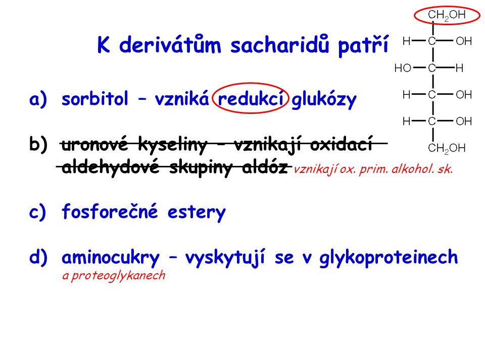 K derivátům sacharidů patří