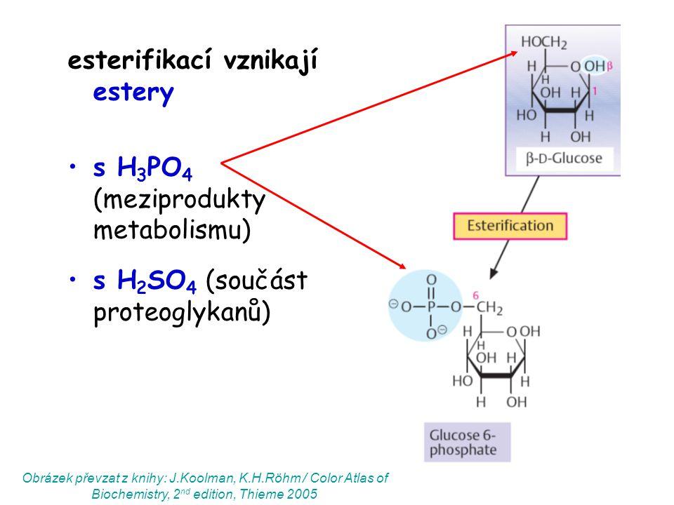 esterifikací vznikají estery
