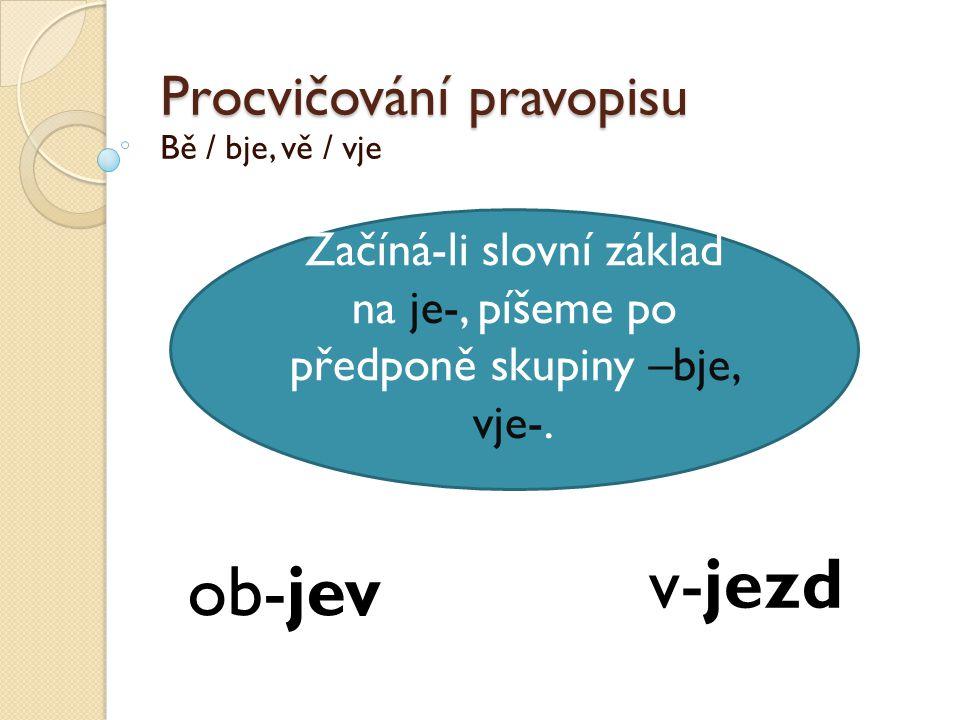 Procvičování pravopisu