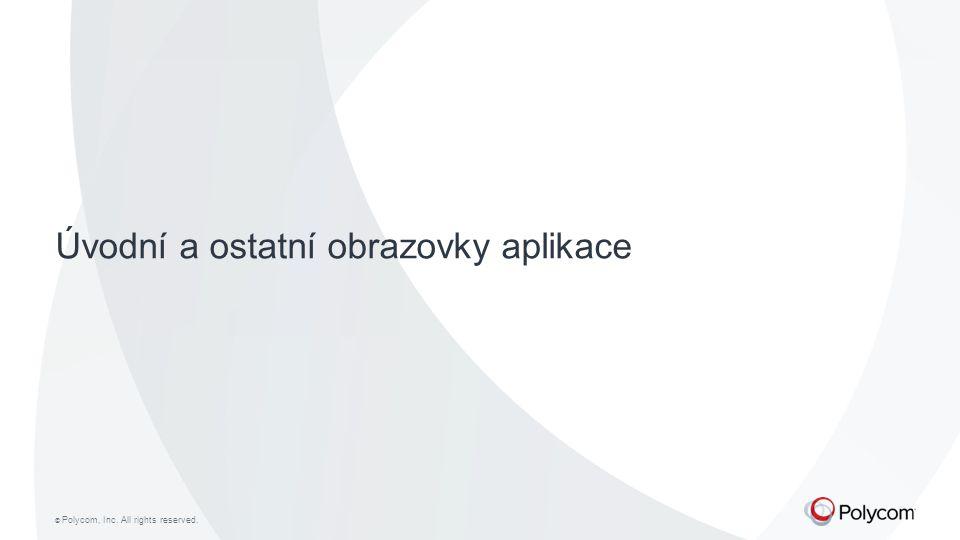 Úvodní a ostatní obrazovky aplikace