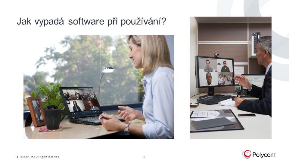 Jak vypadá software při používání