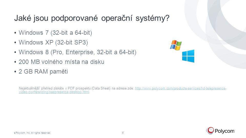 Jaké jsou podporované operační systémy