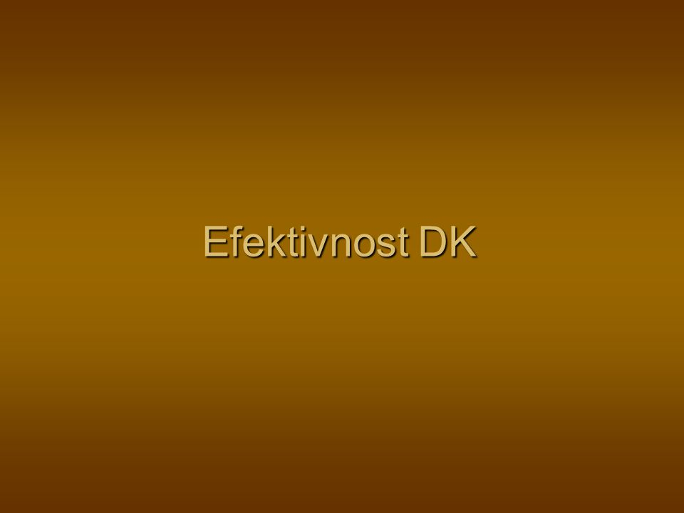 Efektivnost DK