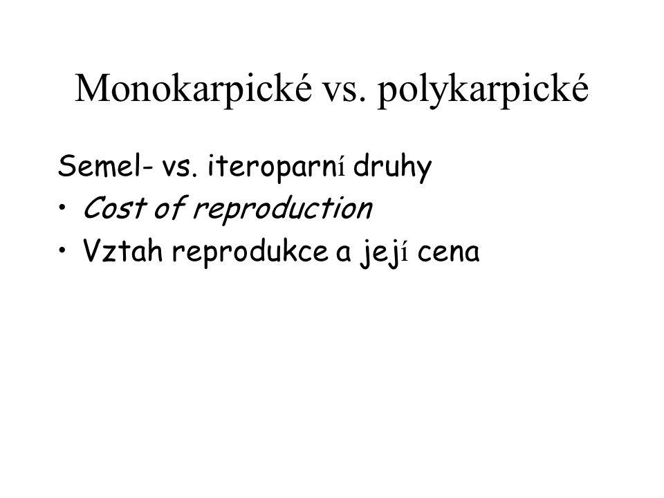 Monokarpické vs. polykarpické