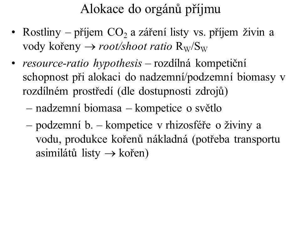 Alokace do orgánů příjmu