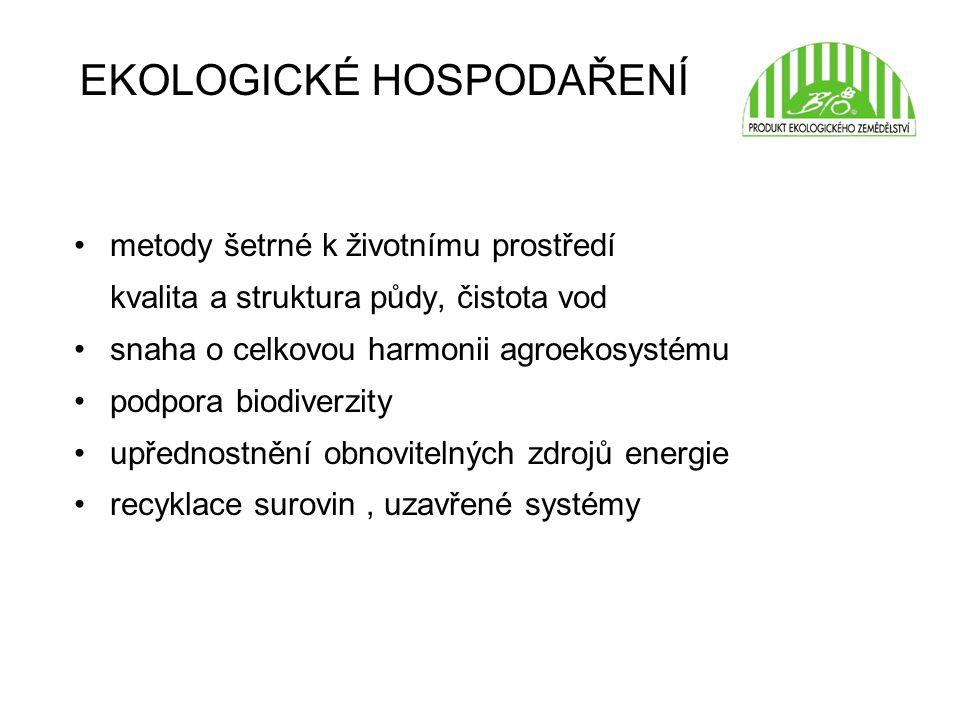 EKOLOGICKÉ HOSPODAŘENÍ