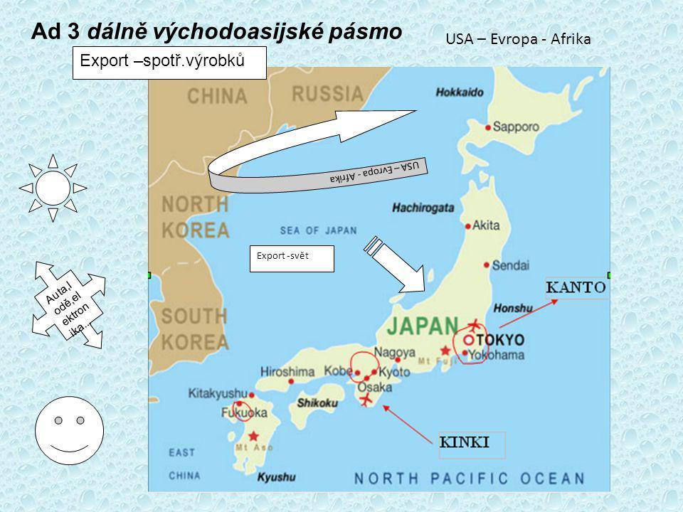 Ad 3 dálně východoasijské pásmo