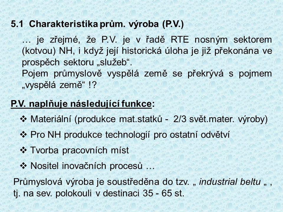 5.1 Charakteristika prům. výroba (P.V.)