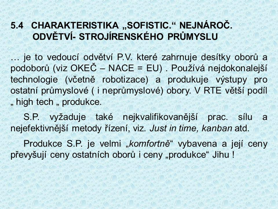 """5. 4 CHARAKTERISTIKA """"SOFISTIC. NEJNÁROČ"""