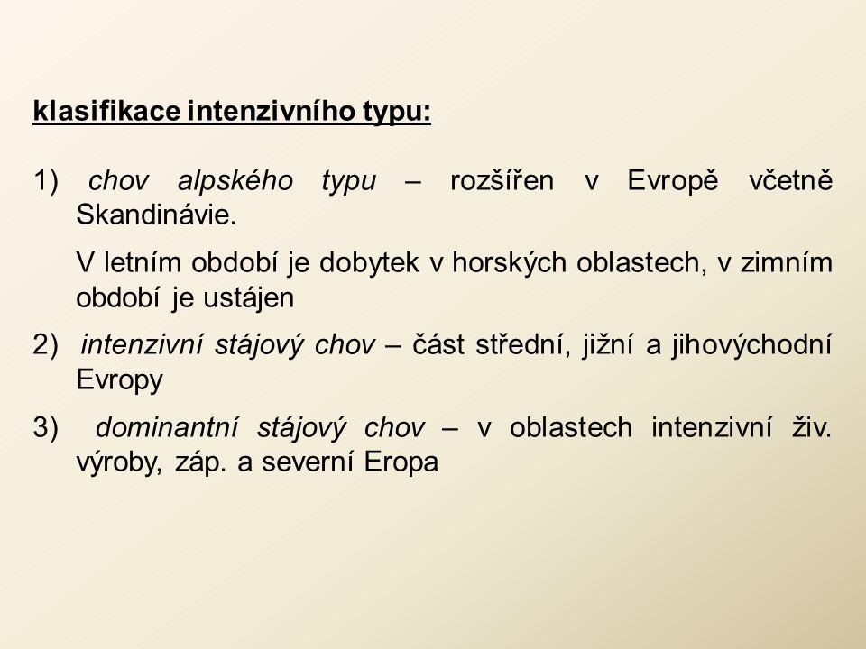 klasifikace intenzivního typu: