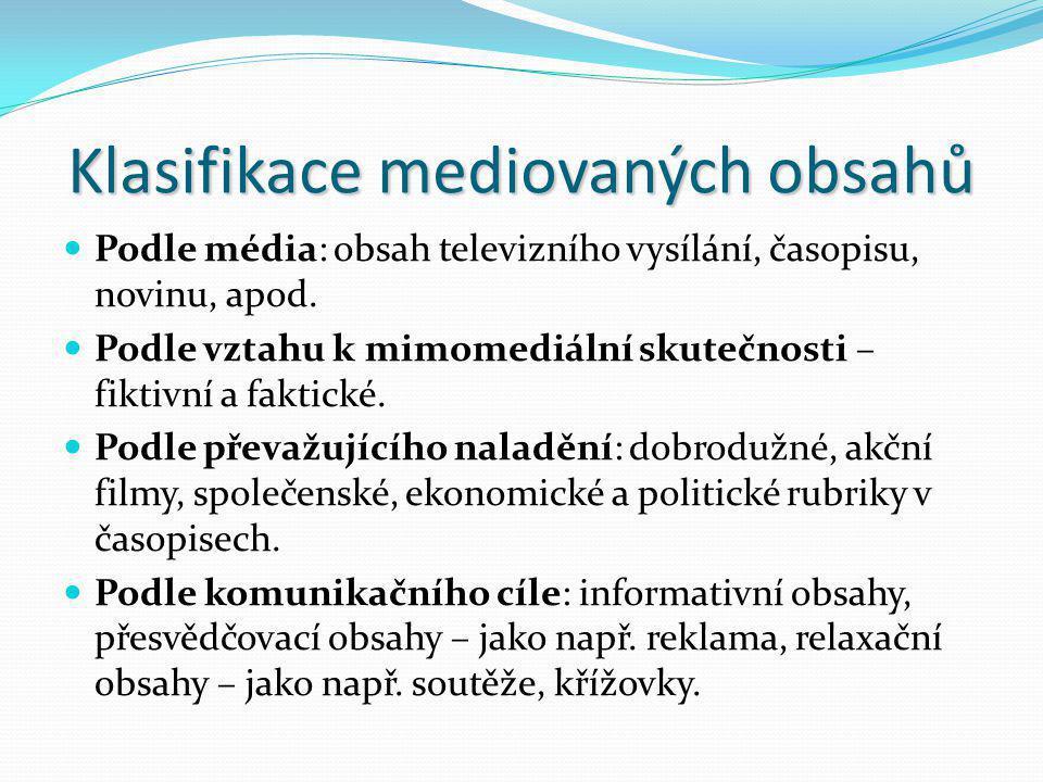 Klasifikace mediovaných obsahů