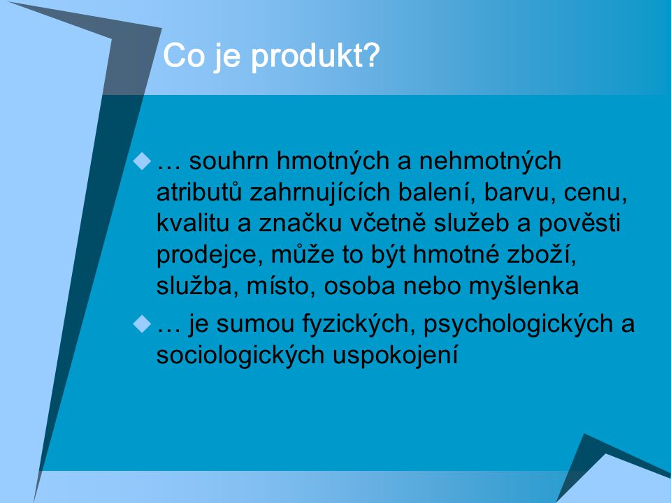 Co je produkt