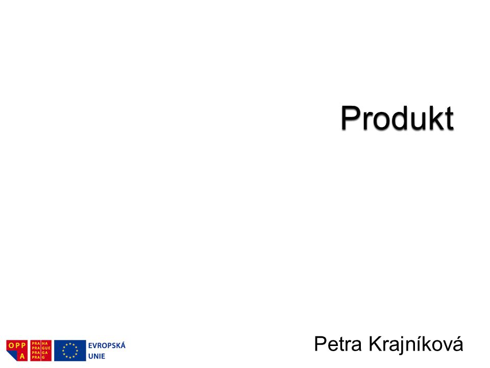 Produkt Petra Krajníková