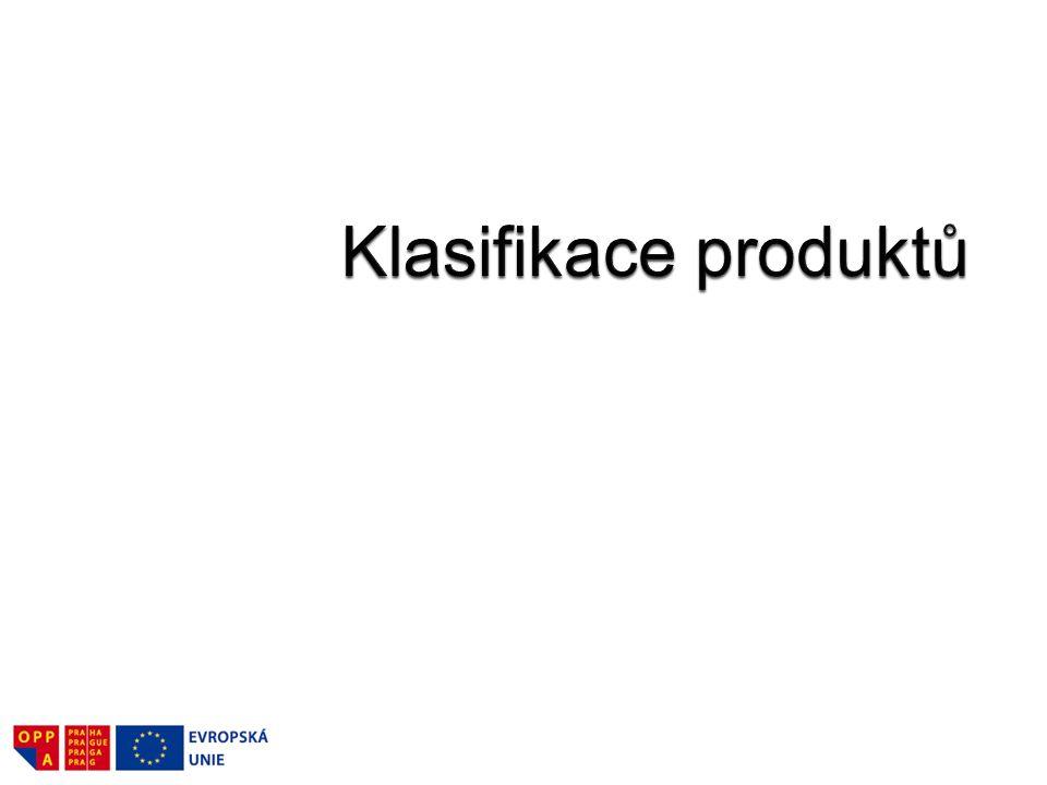 Klasifikace produktů