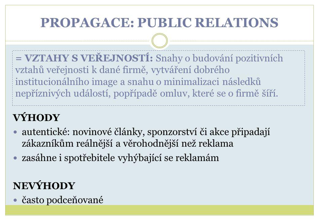 PROPAGACE: PUBLIC RELATIONS