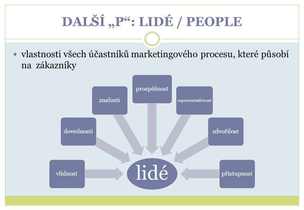 """DALŠÍ """"P : LIDÉ / PEOPLE"""