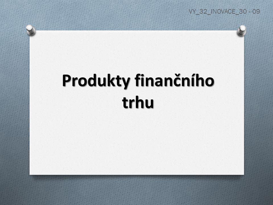 Produkty finančního trhu