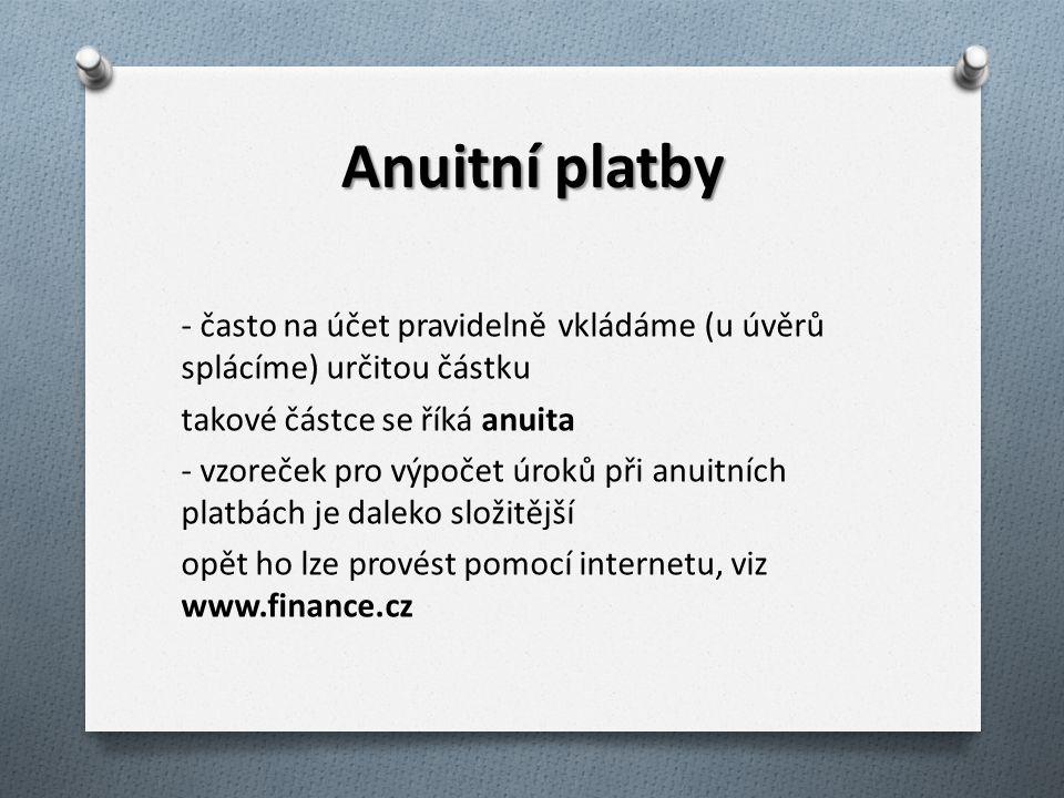 Anuitní platby