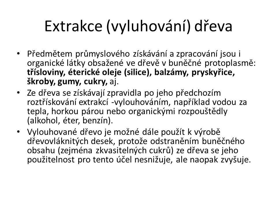 Extrakce (vyluhování) dřeva