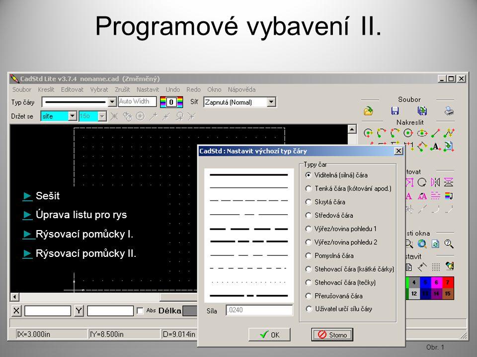 Programové vybavení II.