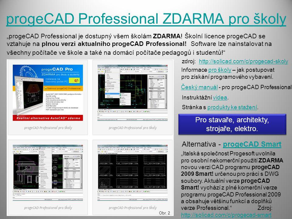 progeCAD Professional ZDARMA pro školy