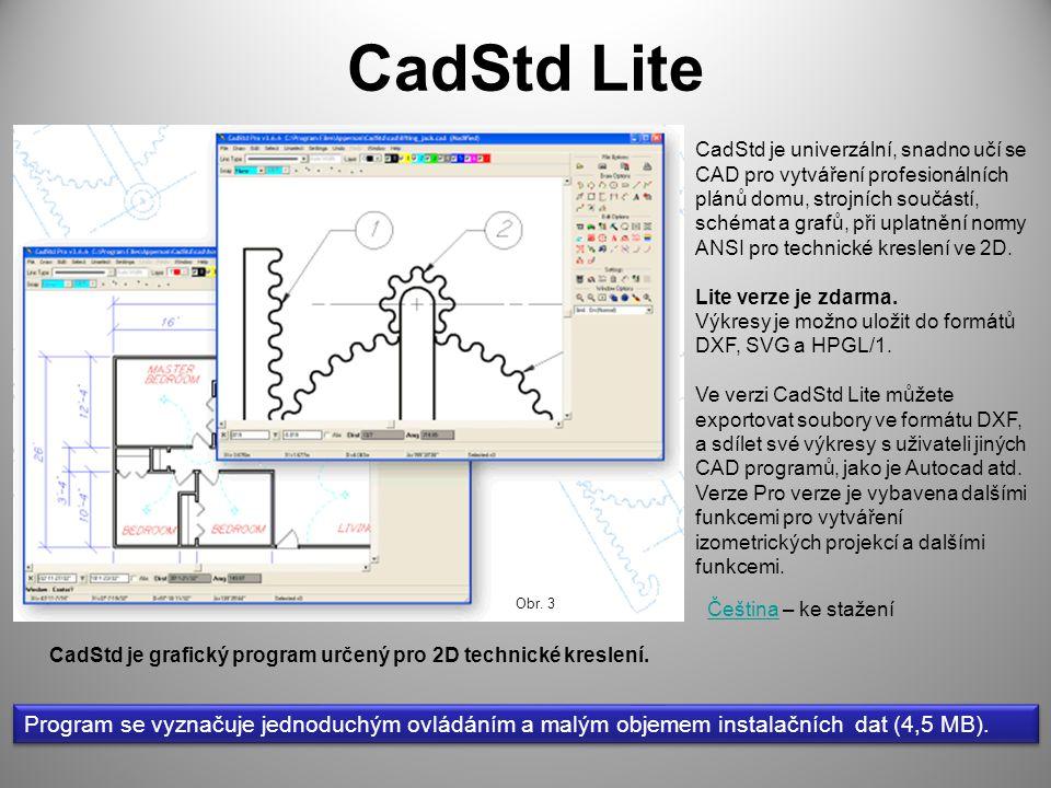 CadStd je grafický program určený pro 2D technické kreslení.