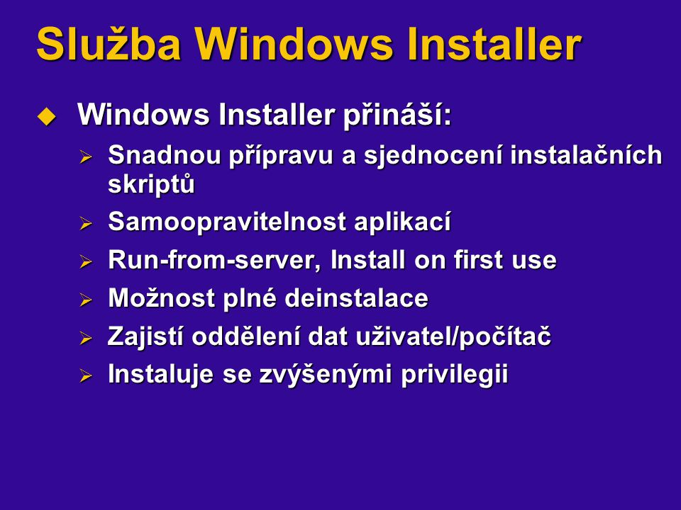 Služba Windows Installer