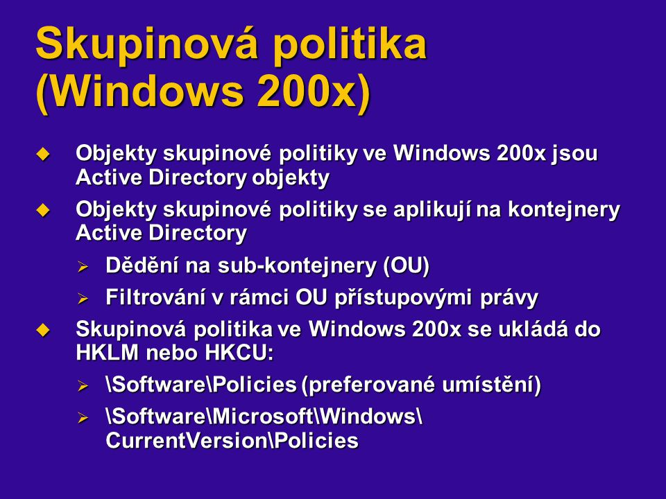 Skupinová politika (Windows 200x)
