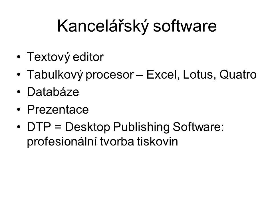 Kancelářský software Textový editor