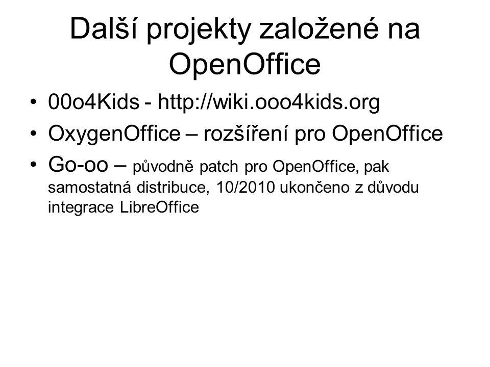 Další projekty založené na OpenOffice