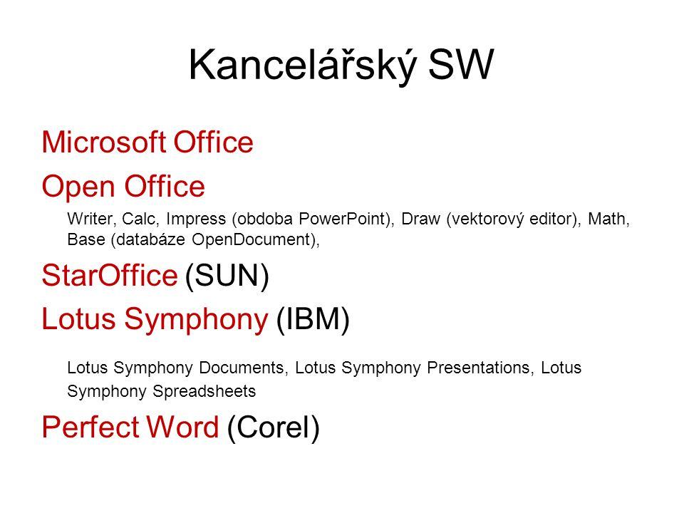 Kancelářský SW Microsoft Office Open Office StarOffice (SUN)