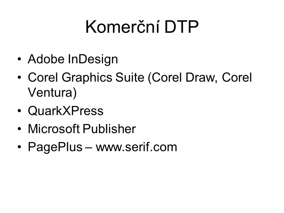 Komerční DTP Adobe InDesign