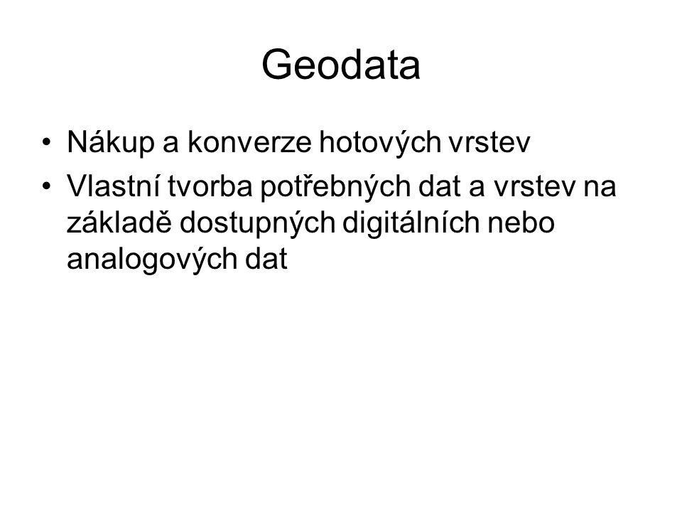 Geodata Nákup a konverze hotových vrstev