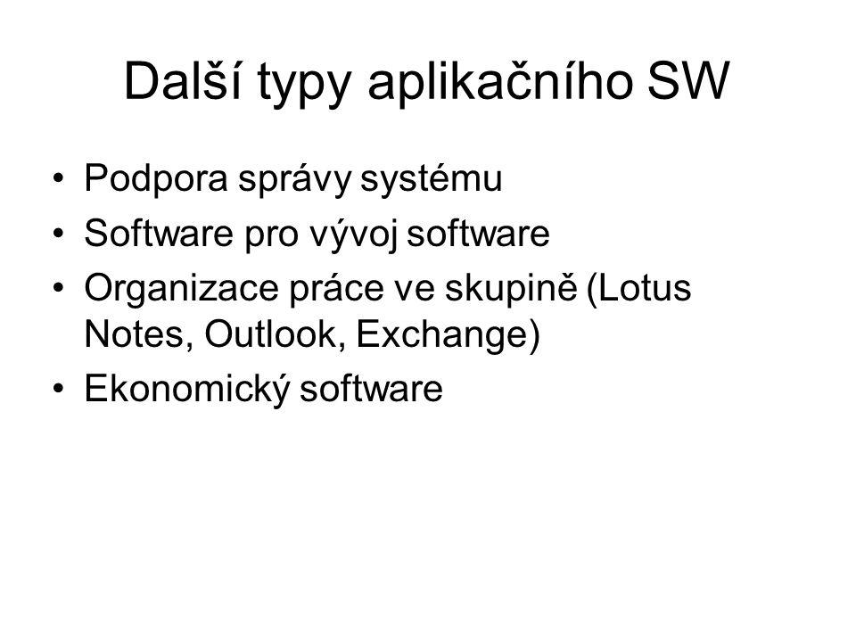 Další typy aplikačního SW
