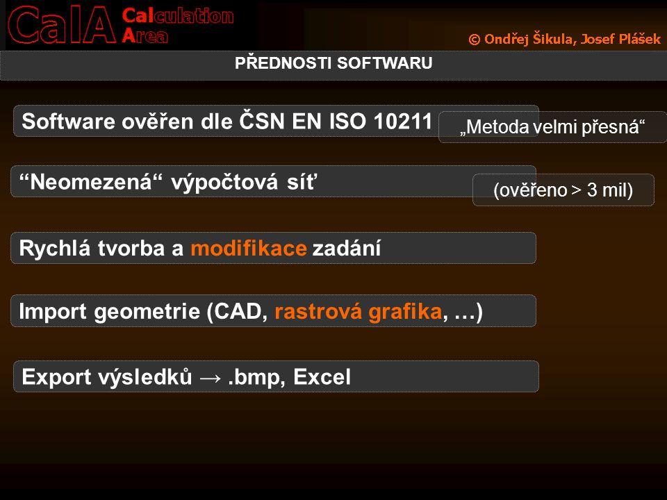 Software ověřen dle ČSN EN ISO 10211